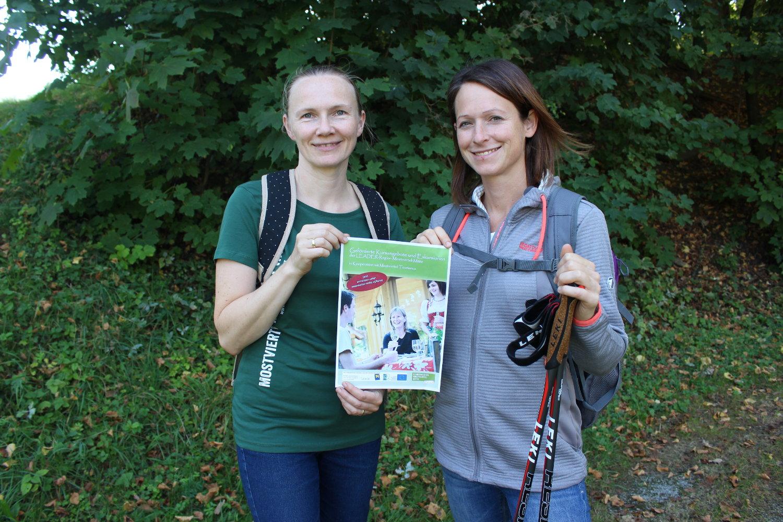 Leader-Managerin Petra Scholze-Simmel und Projektleiterin Martina Grill freuen sich über den Start des Kursprogramms. ©LEADER Region Mostviertel-Mitte